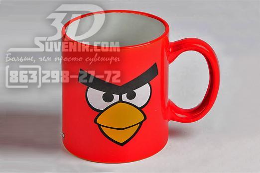 """Кружка керамическая """"Angry Birds - Красная птица"""" 300мл"""
