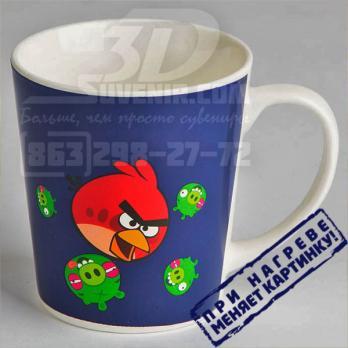 """Кружка керамическая термореагирующая """"Angry Birds"""" в подарочной упаковке"""