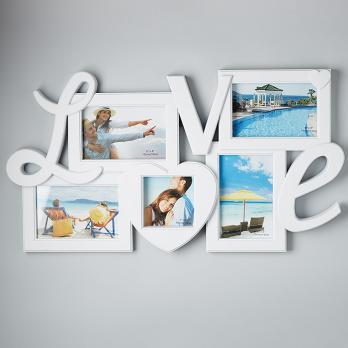 "Фоторамка на 5 фотографий ""LOVE"" белая С31-005"