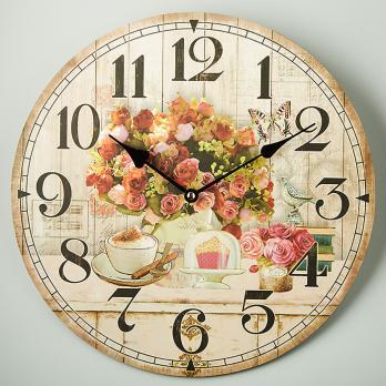 """Часы настенные """"Букет чайных роз"""" круглые прованс DT-0141"""