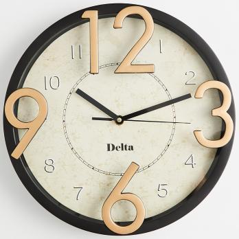 """Часы настенные """"Золотые цифры"""" DT9-0008, офисные часы круглые"""