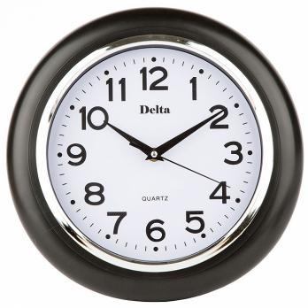 Часы настенные 29 см DELTA DT-0091 черные