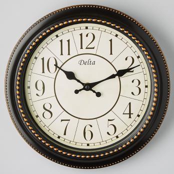 Стильные настенные часы, черные, офисные